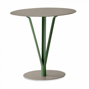 Bonaldo Kadou Design Tisch aus lackiertem Stahl D50cm made in Italy