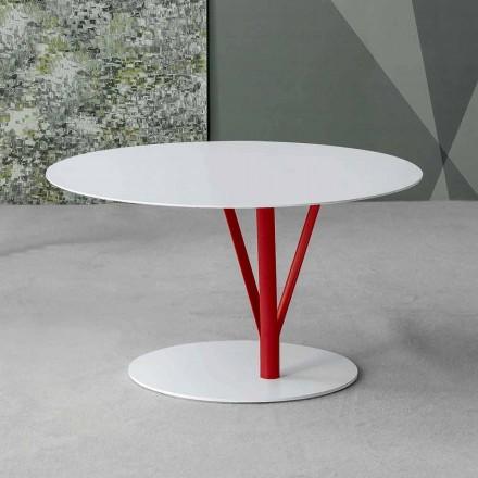 Bonaldo Kadou Tischchen aus lackiertem Stahl D70cm, Design made Italy
