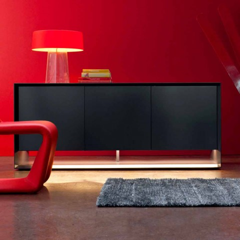 Bonaldo Sunrise Design lackiertes Holz Sideboard H72xL180cm made in Italy