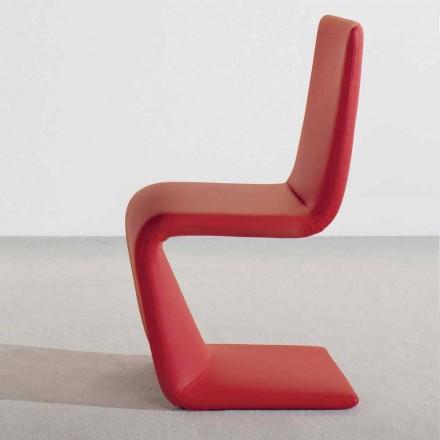 Bonaldo Venere gepolsterter Stuhl aus Leder,modernes Design made Italy