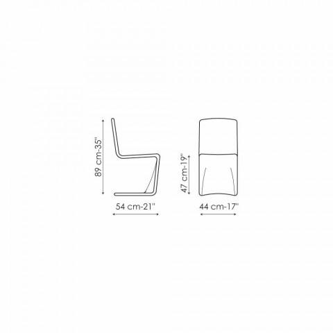 Moderner Stuhl von Bonaldo Venere mit Lederbezug aus Italien