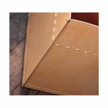 Brennholztasche aus neutralem Leder 100% Made in Italy