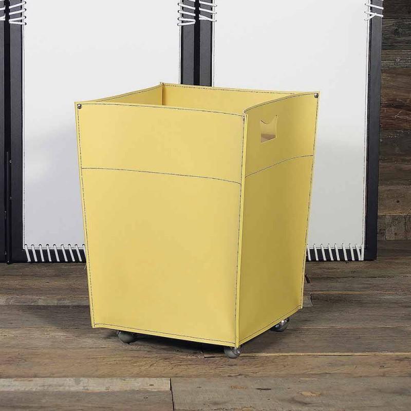 Brennholzbeutel aus Schalterleder 100% Made in Italy