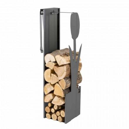 Interner schwarzer Holzhalter mit modernem Design und Werkzeugen - Maestrale3