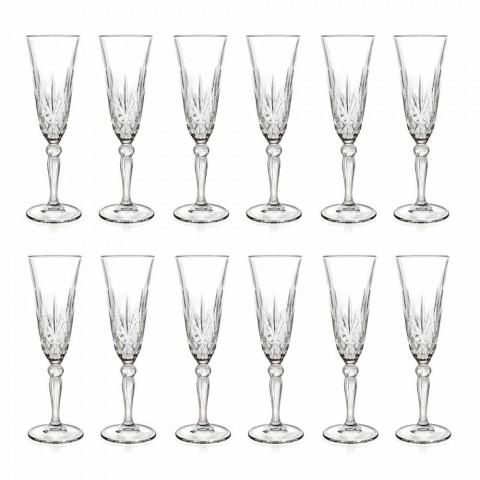 Becherflöte Ökologisches Kristallglas für Champagner 12 Stück - Cantabile