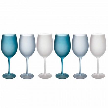 Farbige Weingläser aus Milchglas mit Eiseffekt, 12 Stück - Herbst