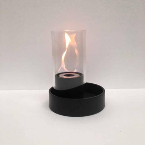 Bio Ehanol Tischkamin aus Keramik und Glas Jim