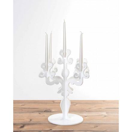 Hoher Kerzenhalter im Renaissance-Design, 5 Arme aus Plexiglas, Aragona