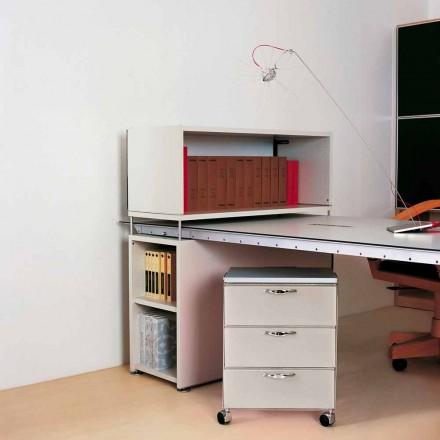 Moderne Kommode mit 3 Schubladen in weißem oder grauem Adam Polypropylen