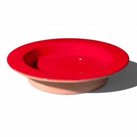 Rundes Herzstück aus Terrakotta und glasierter Keramik Made in Italy - Brooke