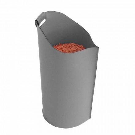 Pelletkorb aus Leder 15 kg Sapel Design