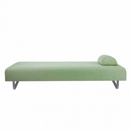 Outdoor Design Chaiselongue aus Metall und Stoff Made in Italy - Selia