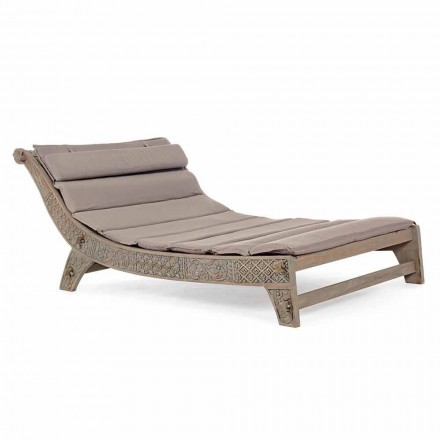 Outdoor Teakholz Chaiselongue mit Homemotion Inlays - Giobbe