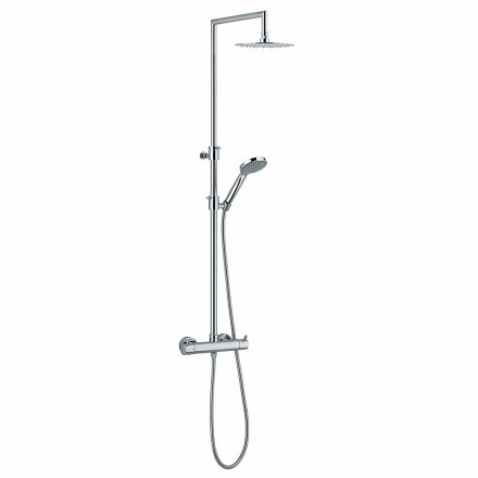 Duschsäule mit integriertem Umsteller aus verchromtem Messing Made in Italy - Griso