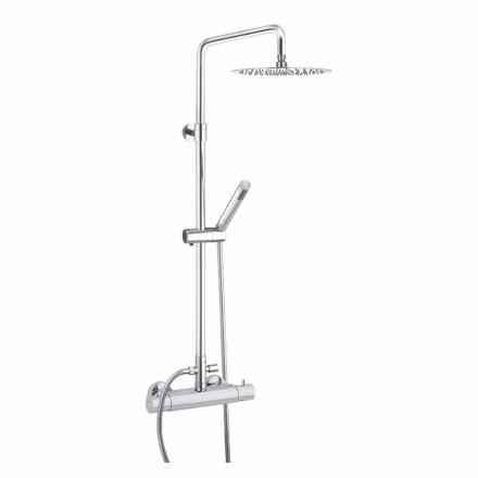 Duschsäule mit ultradünnem Duschkopf aus Stahl Made in Italy - Studio