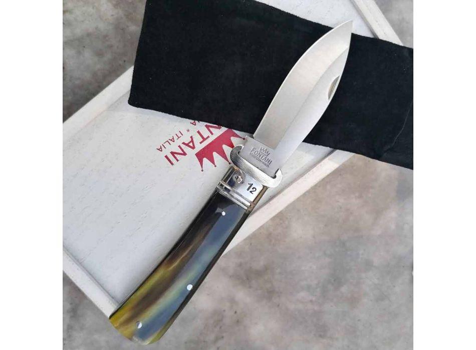 Antikes Bastelmesser mit Horn- oder Holzgriff Made in Italy - Mugello