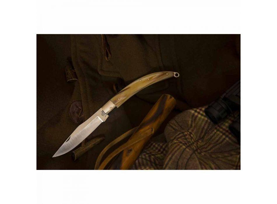Antikes handgefertigtes Jagdmesser mit Stahlklinge Made in Italy - Afri