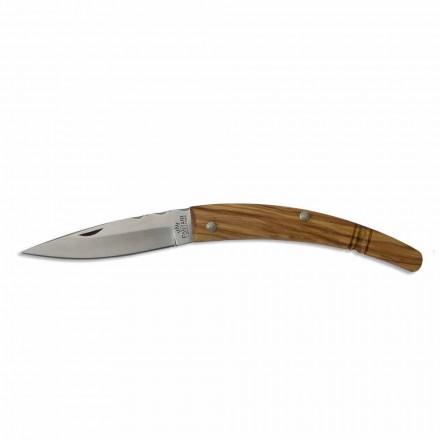 Gobbo Artisan Knife gebogener Griff aus Horn oder Holz Made in Italy - Gobbo