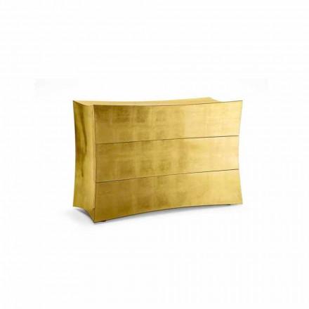 Kommode mit 3 Schubladen aus MDF,modernes Design,made in Italy,Isidoro