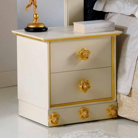 Schlafzimmer Nachtschrank mit 4 Schubladen Renoir
