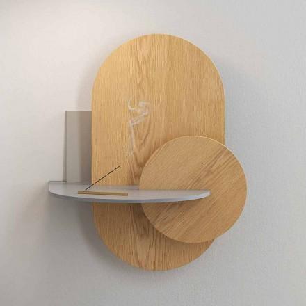 Nachttisch aus Sperrholz Bestehend aus 3 modularen Paneelen Modernes Design - Zita