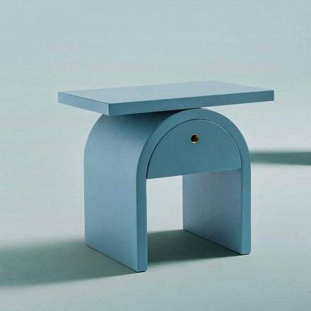 Nachttisch in modernem Design aus farbigem Holz für das Schlafzimmer - Arcom