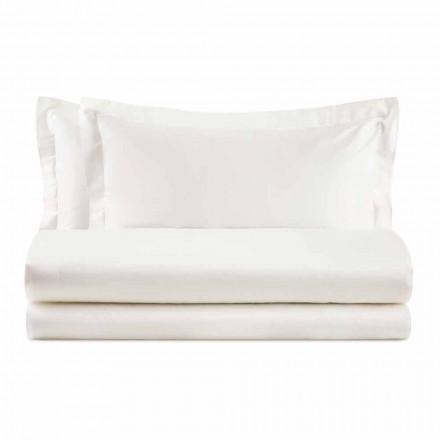 Elegantes Set für Doppelbett aus satinierter Baumwolle - Violetta
