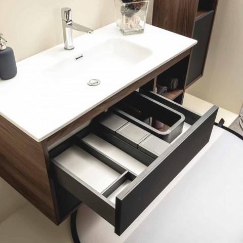 Moderne Badezimmer Komposition in Melamin und MDF - Becky