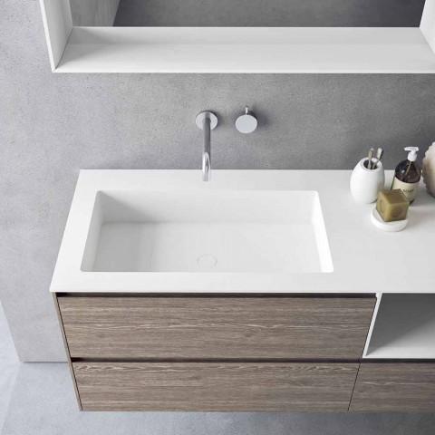 Badezimmermöbel Zusammensetzung, modernes und hängendes Design Made in Italy - Callisi8