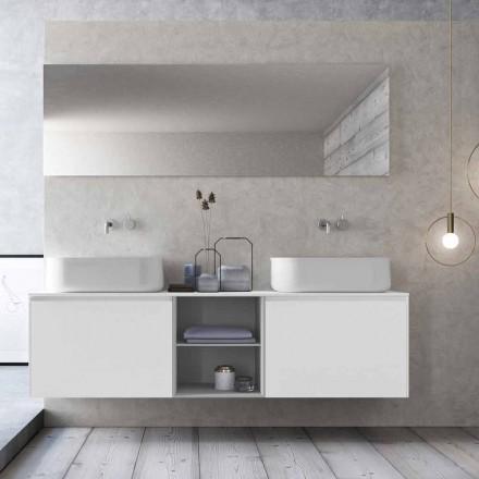 Modern Design Suspension Badezimmer Zusammensetzung Made in Italy - Callisi14