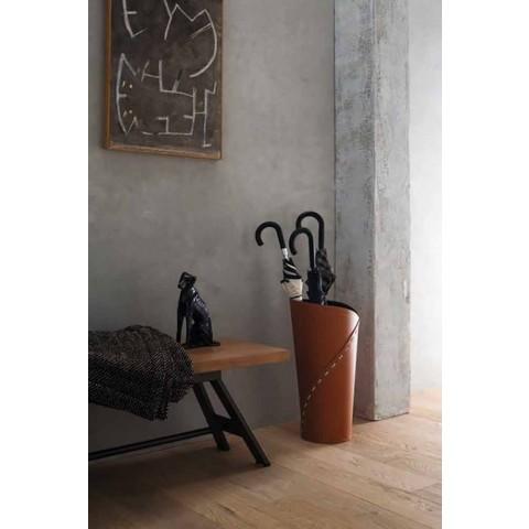 Modernes Design Büro Komposition aus Leder Made in Italy - Giulio