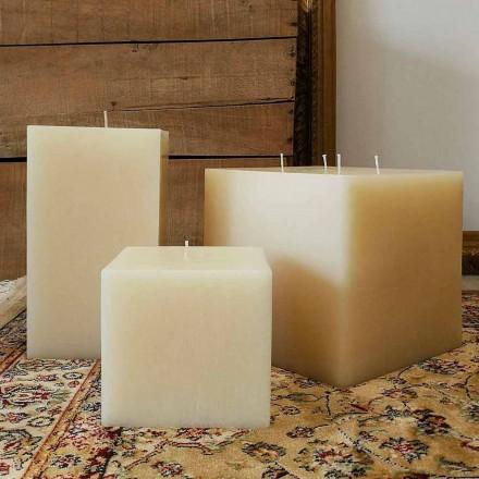 Zusammensetzung der quadratischen Wachskerzen Made in Italy, 3 Stück - Mondelle