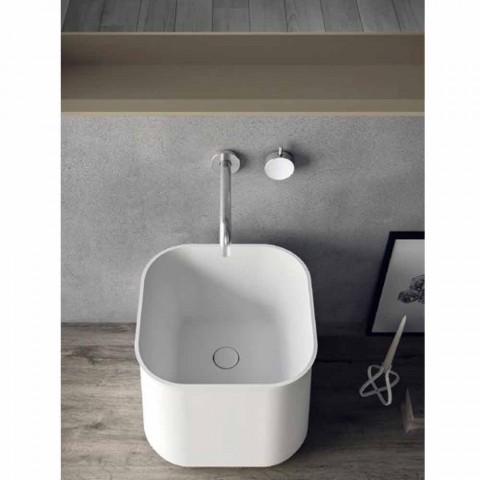 Zusammensetzung der modernen Badezimmermöbel, hängendes Design Made in Italy - Callisi6