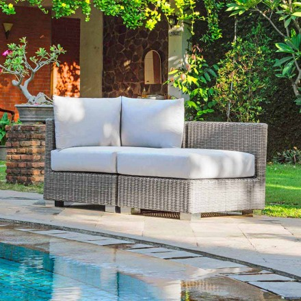 Outdoor Loungeset in Rattan Optik handmade Ania modernes Design
