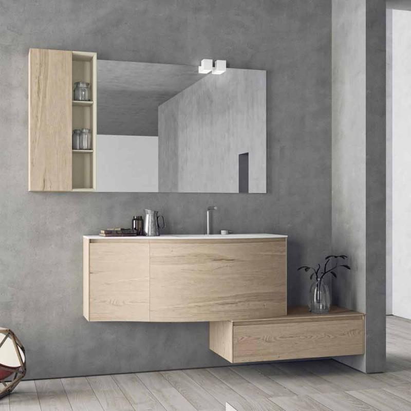Hängende und moderne Komposition für das Badezimmer, Made in Italy Design - Callisi4