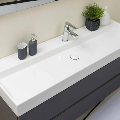 Zusammensetzung Abgehängte Badezimmermöbel aus MDF Made in Italy - Becky