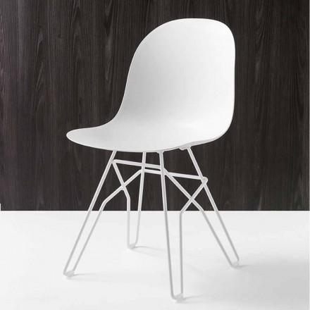 Connubia Calligaris Academy moderner Design Stuhl aus Italien, 2 Stück