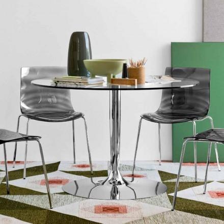Connubia Calligaris Planet moderner runder Tisch Durchmesser 120 cm, Glas