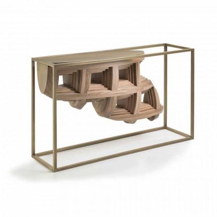 Konsole aus massivem Nussbaumholz und Metall, luxury Design Pardo