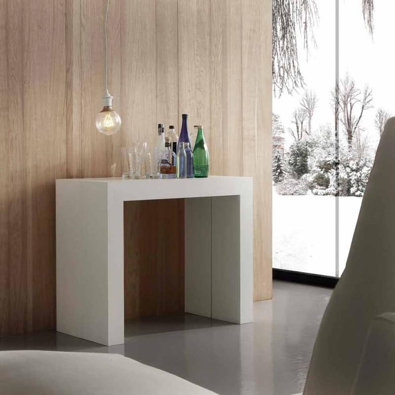 Extensible Konsole bis 295 cm laminiert Uri Falten
