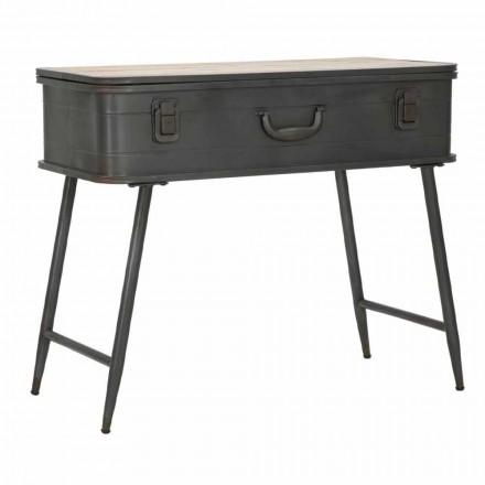 Konsole mit industriellem Design Eisen- und Holzbehälter - Gomes