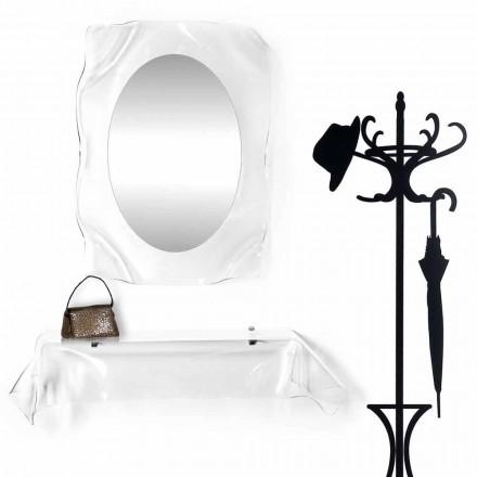 Modernes Design-Konsole aus transparentem Plexiglas drapiert Wunsch