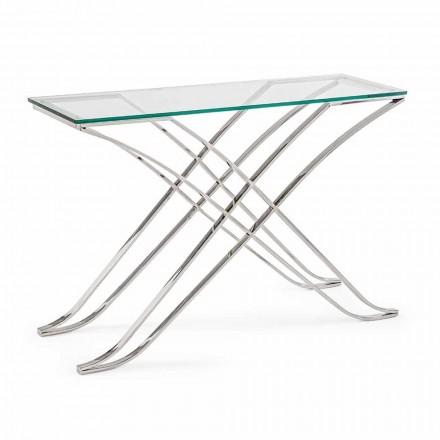 Konsole aus gehärtetem Glas und Stahl Modernes Design Homemotion - Zafira