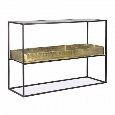 Industriedesign-Konsole aus Stahl und Glas Homemotion - Malpensa