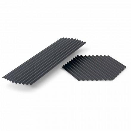 Paar Tabletts in schwarz oder gold lackiertem Stahl Modernes Design - Savona