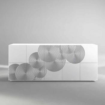 Anrichte mit 10 ante Slate, modernem Design, weiß, schwarz oder gold