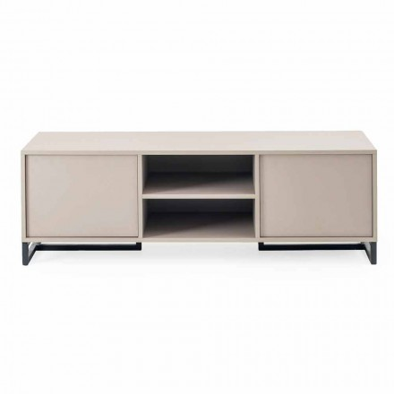 Modernes, niedriges Sideboard aus MDF und Metall Made in Italy - Rohan