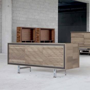 Modernes Sideboard aus Massivholz, B192 x T 50 cm, Teresa