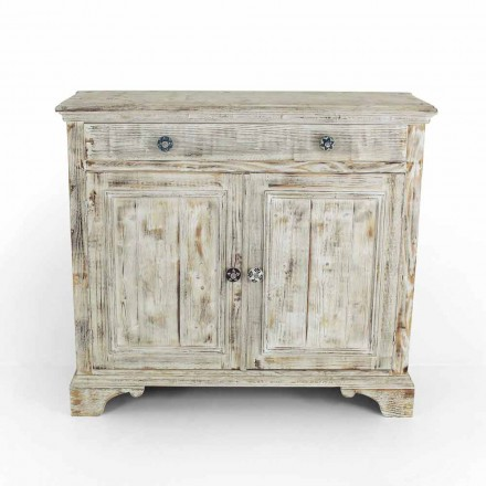 Massives Fichtenholz Sideboard mit internen Regalen Made in Italy - Pierrot