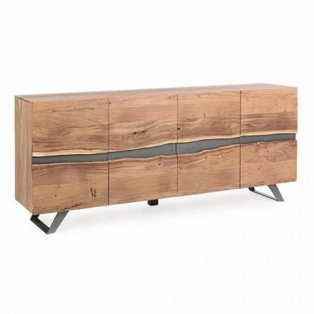 Sideboard aus Holz und lackiertem Stahl Modernes Design Homemotion - Silvia